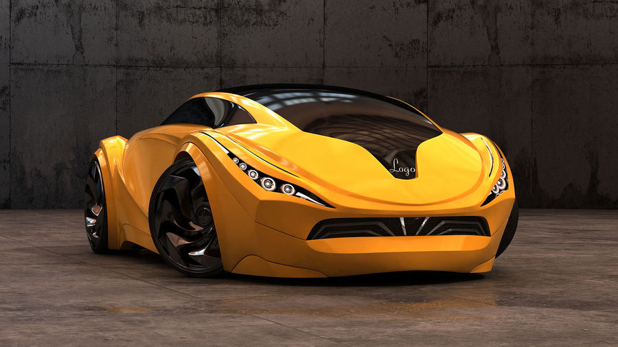 Prototype de voiture royalty-free 3d model - Preview no. 5
