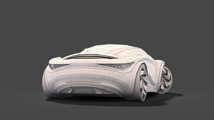 Prototype de voiture royalty-free 3d model - Preview no. 28