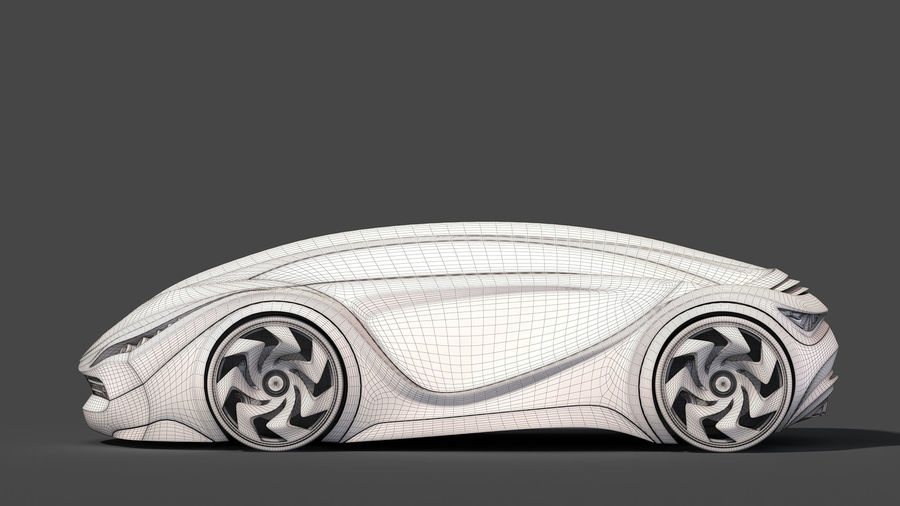 Prototype de voiture royalty-free 3d model - Preview no. 27