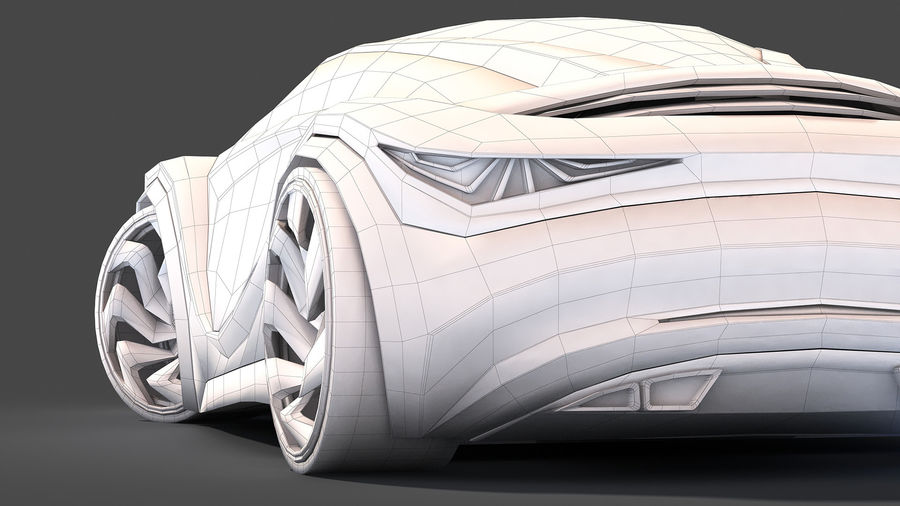 Prototype de voiture royalty-free 3d model - Preview no. 30