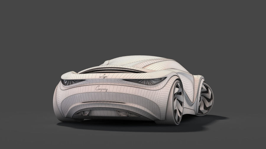 Prototype de voiture royalty-free 3d model - Preview no. 29