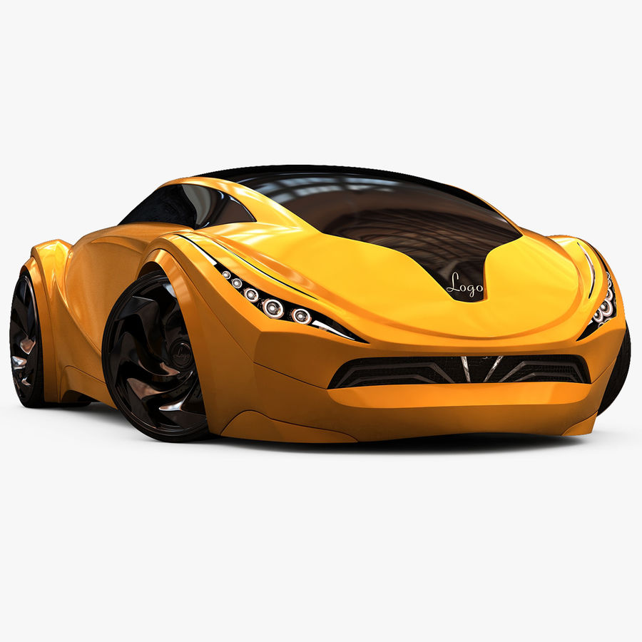 Prototype de voiture royalty-free 3d model - Preview no. 1