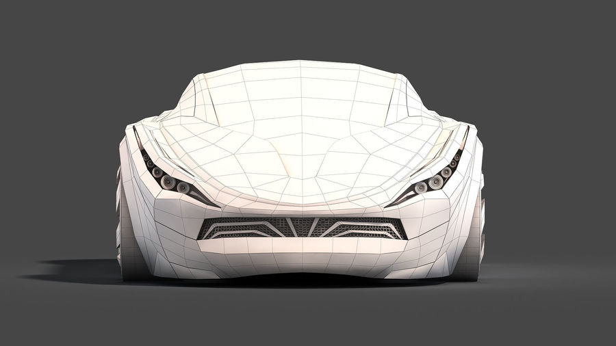 Prototype de voiture royalty-free 3d model - Preview no. 24