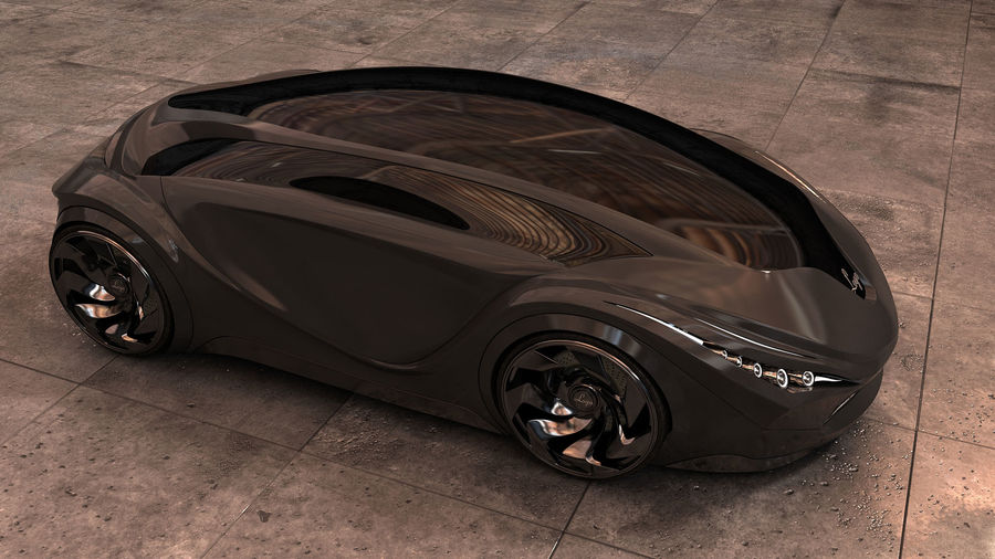 Prototype de voiture royalty-free 3d model - Preview no. 17