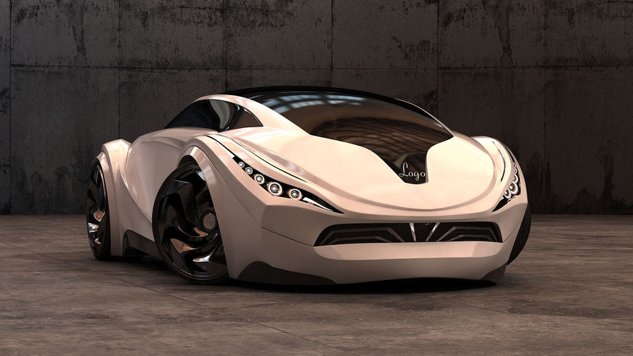 Prototype de voiture royalty-free 3d model - Preview no. 7