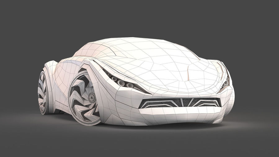 Prototype de voiture royalty-free 3d model - Preview no. 21