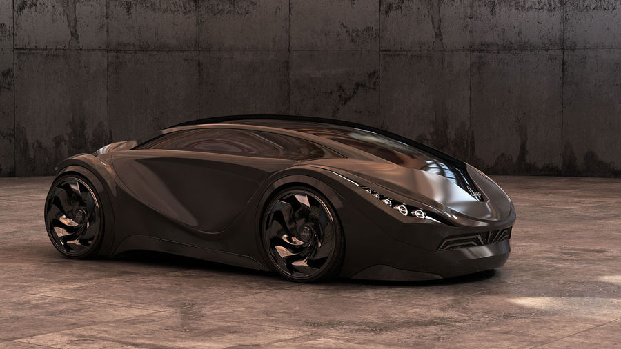 Prototype de voiture royalty-free 3d model - Preview no. 10