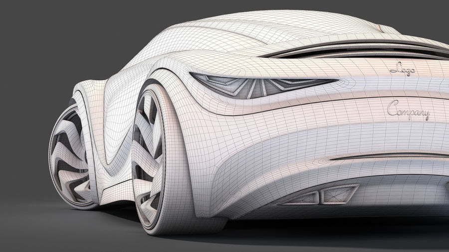 Prototype de voiture royalty-free 3d model - Preview no. 32