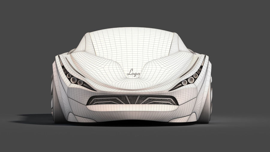 Prototype de voiture royalty-free 3d model - Preview no. 25