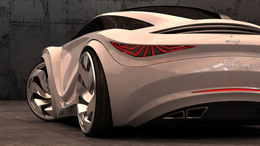 Prototype de voiture royalty-free 3d model - Preview no. 18