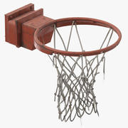 Basketball-Netz zerrissen 3d model