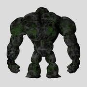Stone Golem Rock Monster 3D Character 3d model