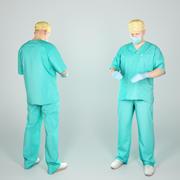 Médecin chirurgical masculin prêt pour la chirurgie 42 3d model