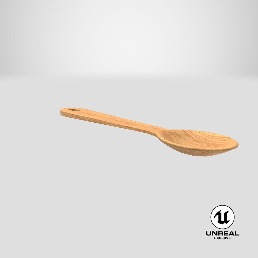 Drewniana łyżka royalty-free 3d model - Preview no. 23