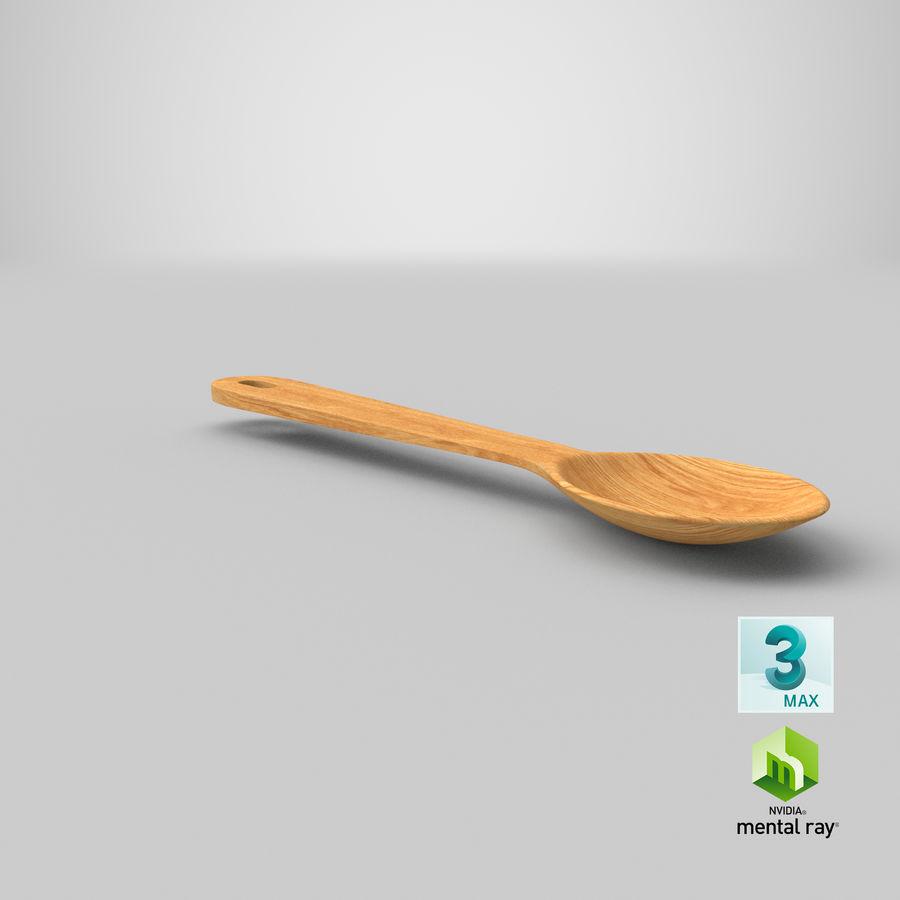 Drewniana łyżka royalty-free 3d model - Preview no. 25