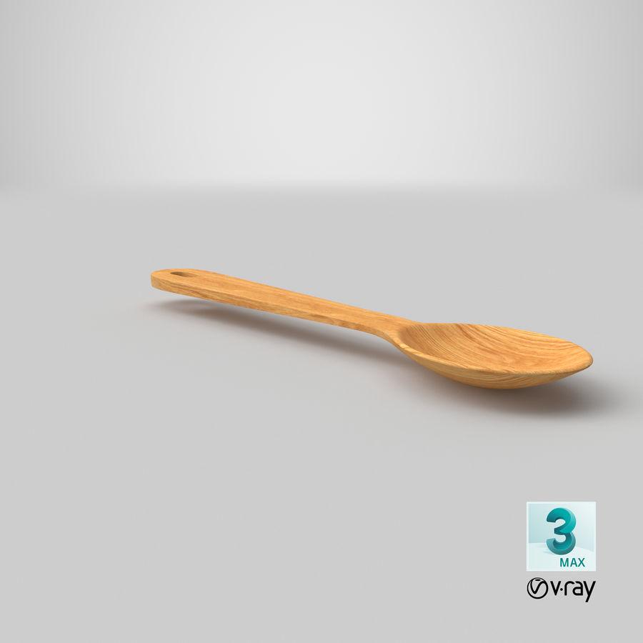 Drewniana łyżka royalty-free 3d model - Preview no. 26