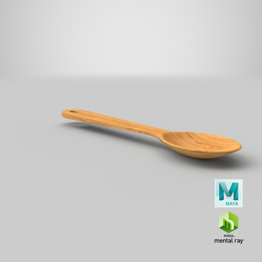 Drewniana łyżka royalty-free 3d model - Preview no. 28