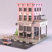 Coffee Shop 02 3d model