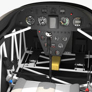 Aerobatic Aircraft Cockpit 3d model