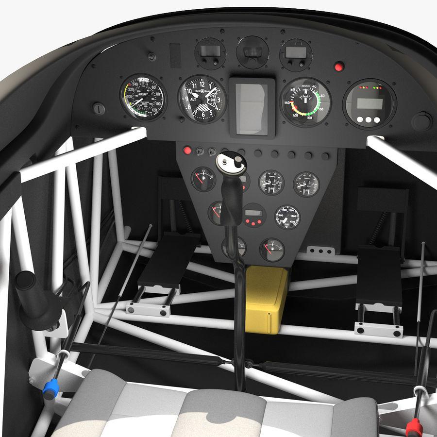Cockpit d'avion acrobatique royalty-free 3d model - Preview no. 1
