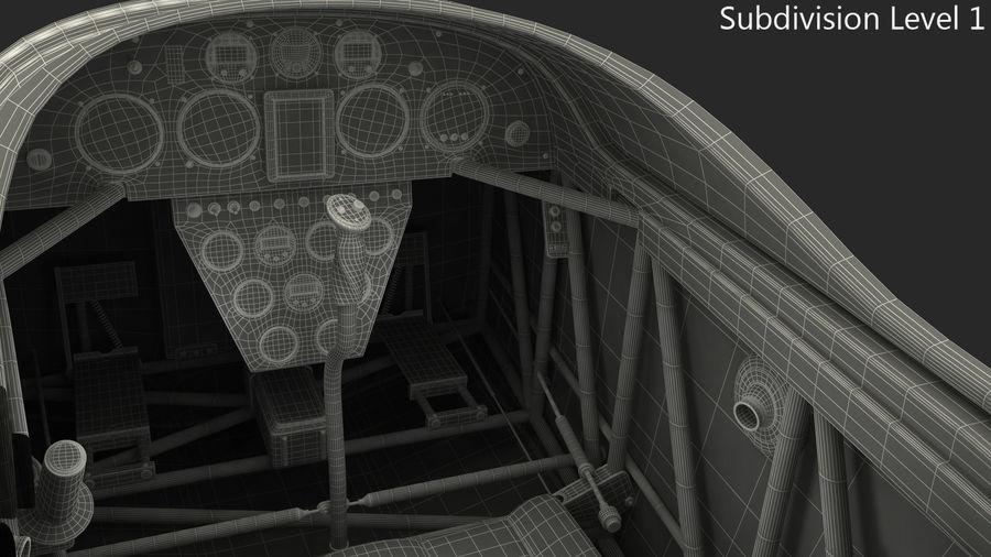 Cockpit d'avion acrobatique royalty-free 3d model - Preview no. 8
