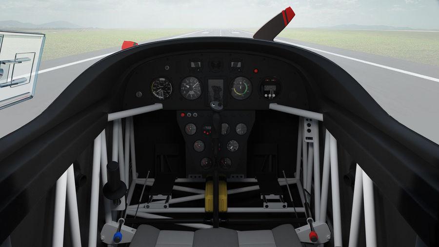 Cockpit d'avion acrobatique royalty-free 3d model - Preview no. 2