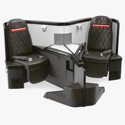 Airplane Business Class Seats Central 3d model