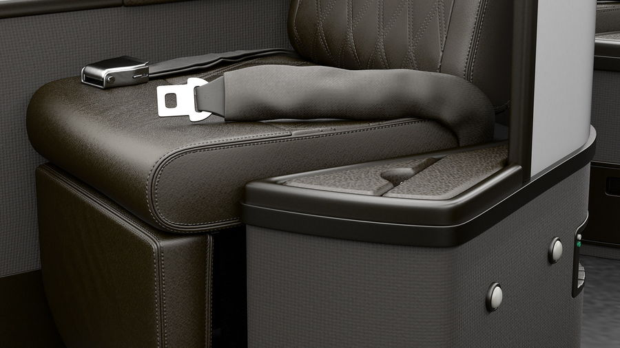 Airplane Business Class Seats Set royalty-free 3d model - Preview no. 17