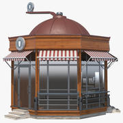 커피 숍 빌딩 3d model