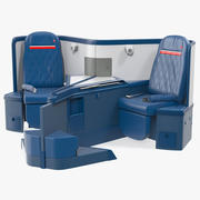 Delta Air Lines Airbus A330-300 Business Class Seats Central 3d model