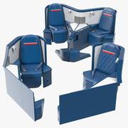 Delta Air Lines Airbus A330-300 Business Class Seats Set 3d model