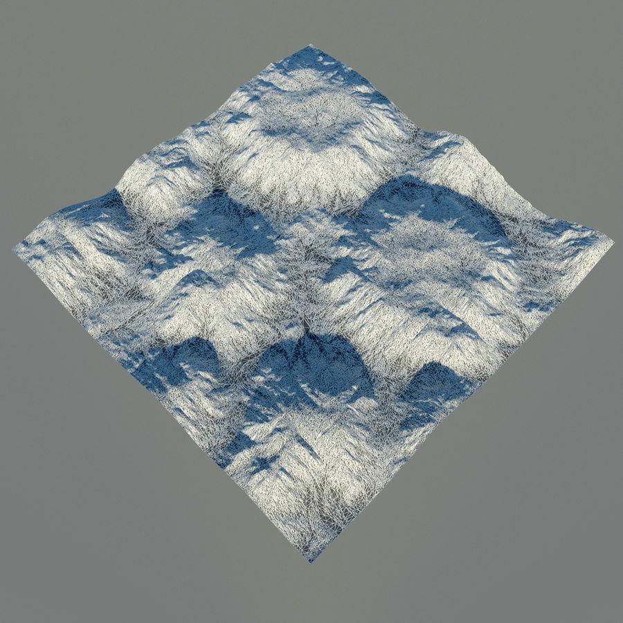 Meseta montañas p1 royalty-free modelo 3d - Preview no. 14