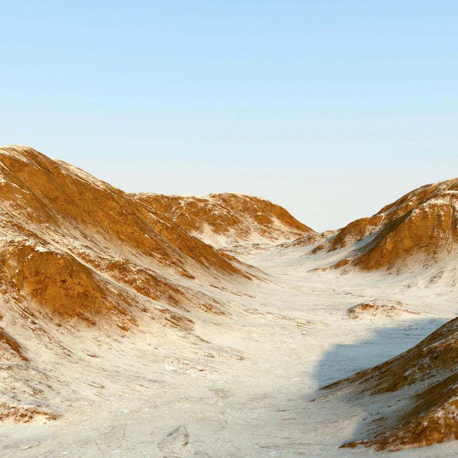 Meseta montañas p1 royalty-free modelo 3d - Preview no. 9