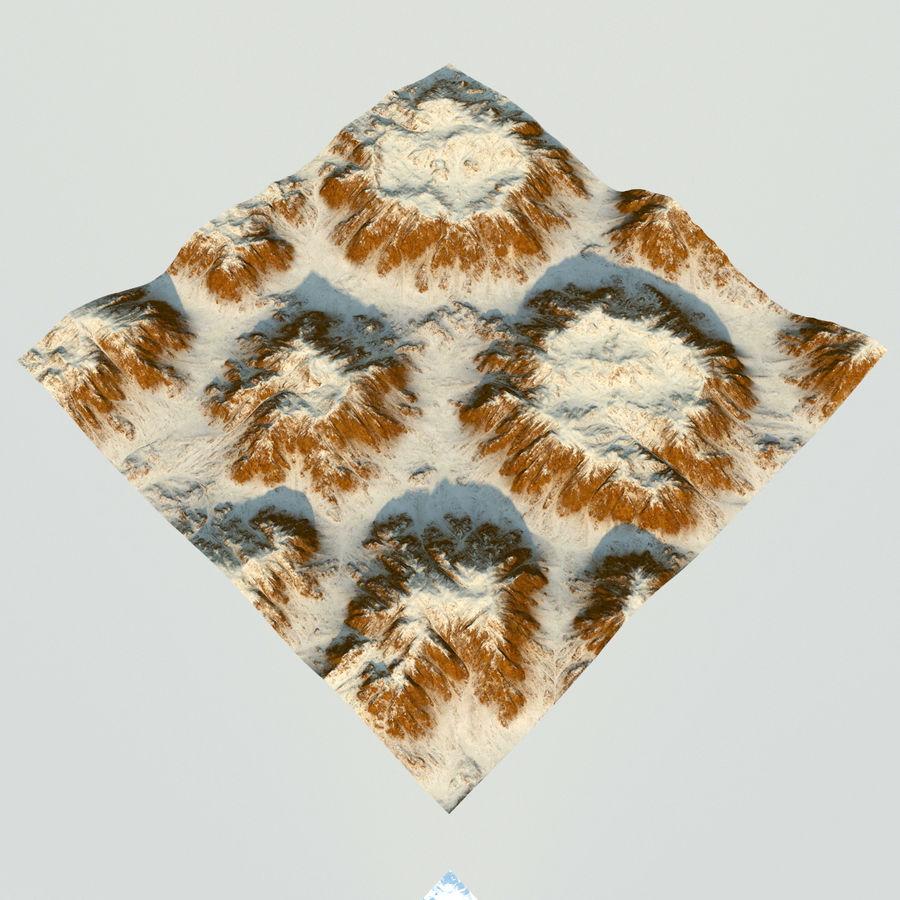 Meseta montañas p1 royalty-free modelo 3d - Preview no. 5