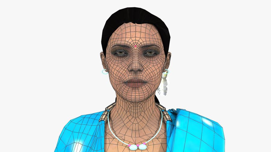 Indian Women royalty-free 3d model - Preview no. 19