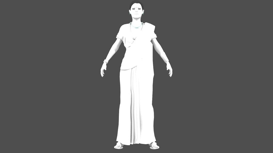Indian Women royalty-free 3d model - Preview no. 16