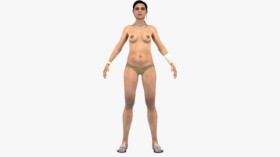Indian Women royalty-free 3d model - Preview no. 10