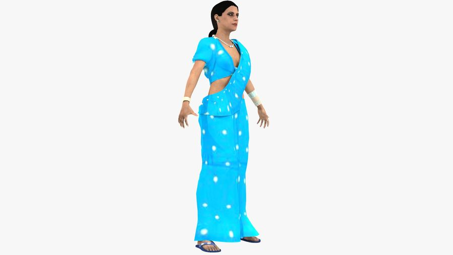 Indian Women royalty-free 3d model - Preview no. 7