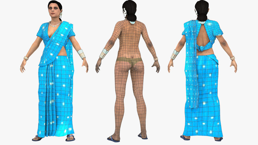 Indian Women royalty-free 3d model - Preview no. 17