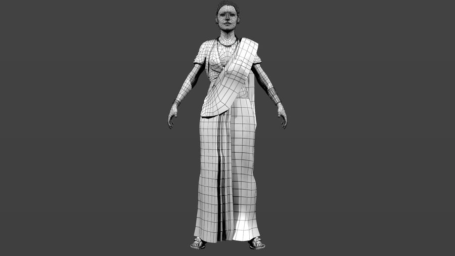 Indian Women royalty-free 3d model - Preview no. 5