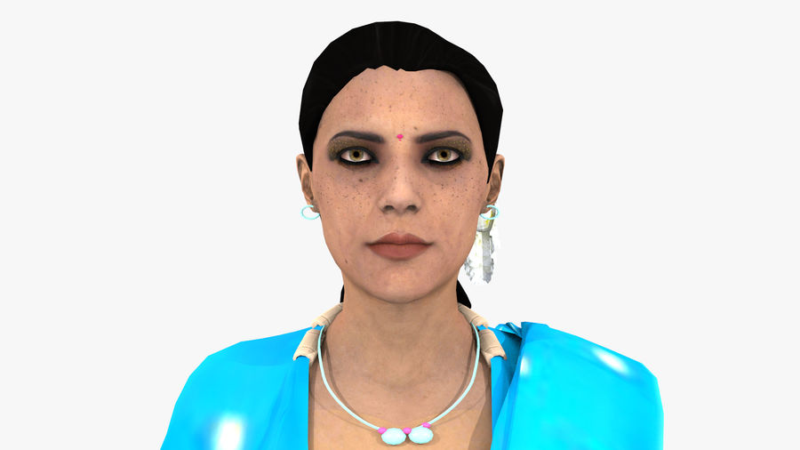 Indian Women royalty-free 3d model - Preview no. 20
