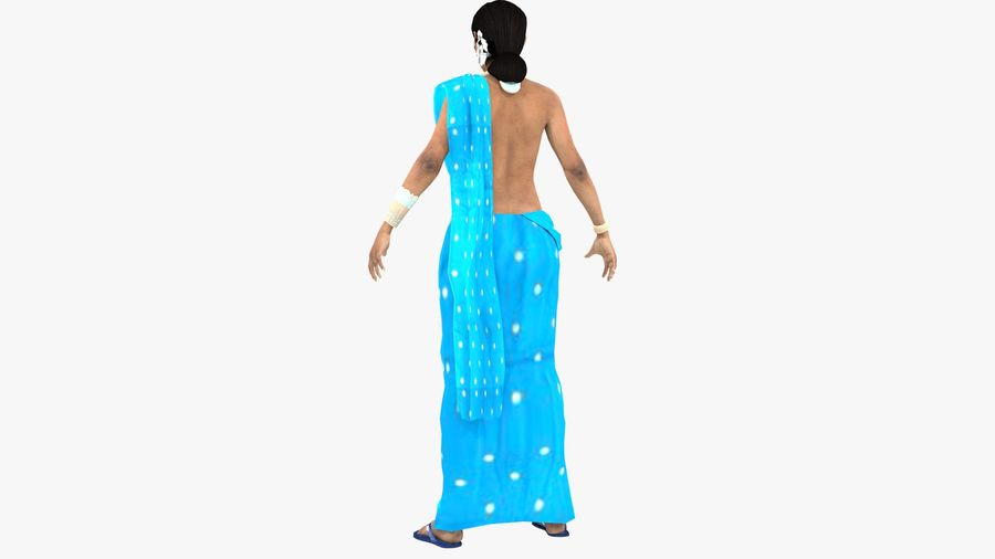 Indian Women royalty-free 3d model - Preview no. 12