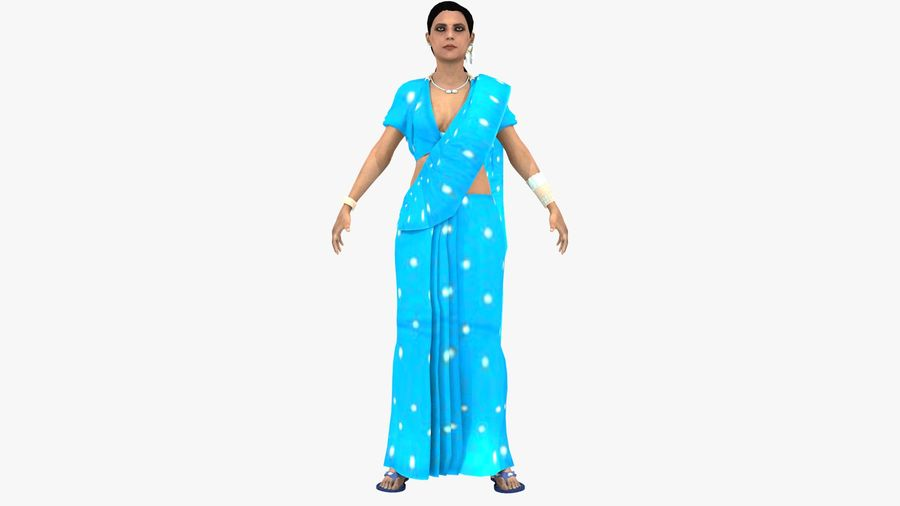 Indian Women royalty-free 3d model - Preview no. 3
