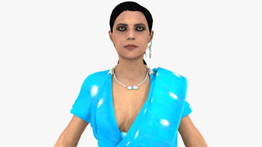 Indian Women royalty-free 3d model - Preview no. 2