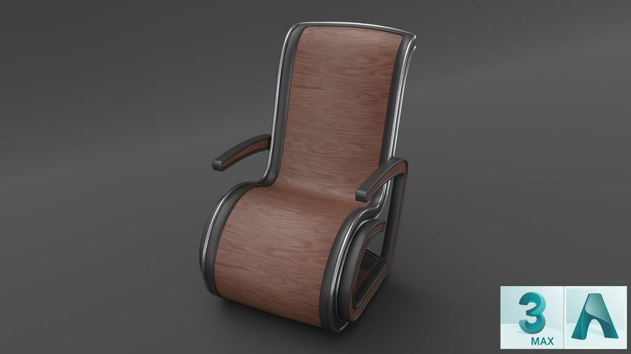 Chair_001 royalty-free 3d model - Preview no. 4