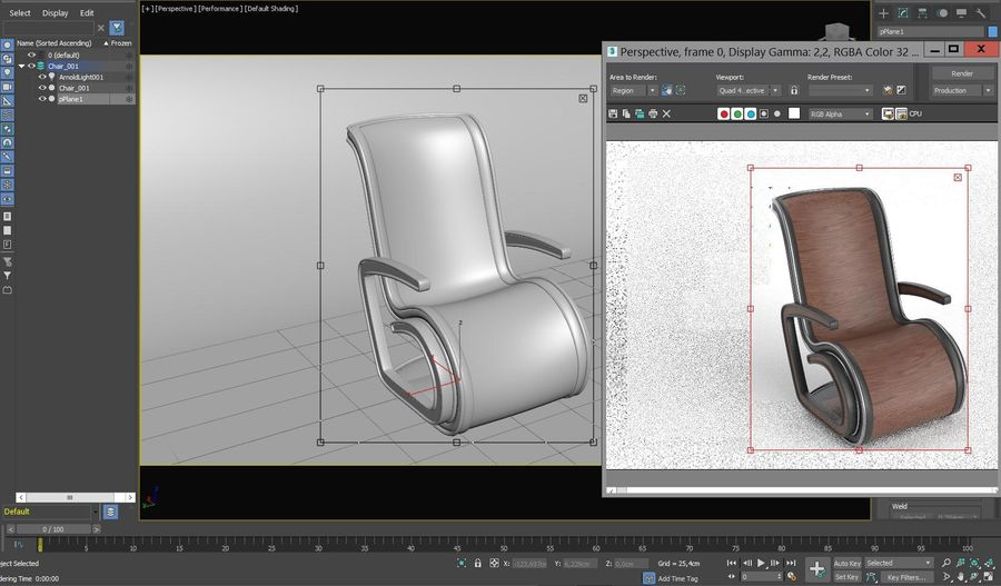 Chair_001 royalty-free 3d model - Preview no. 6