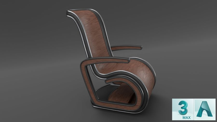 Chair_001 royalty-free 3d model - Preview no. 3