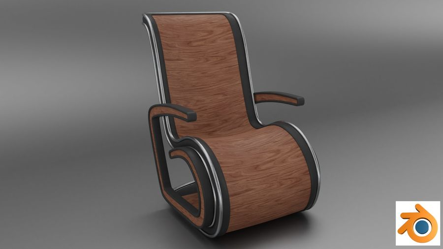 Chair_001 royalty-free 3d model - Preview no. 7