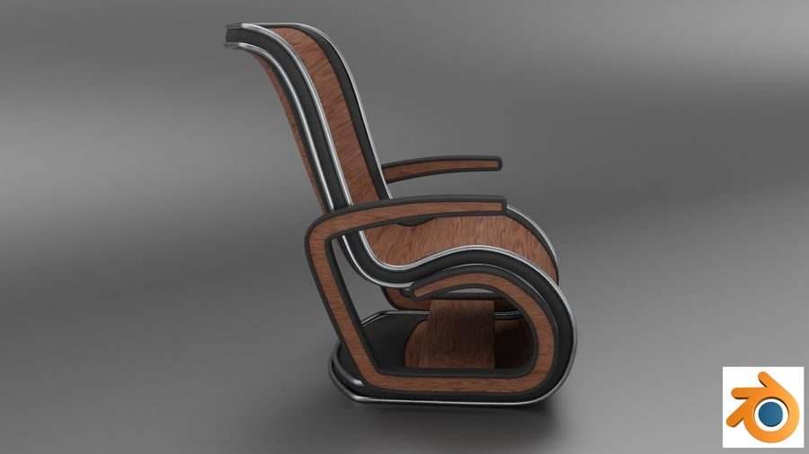 Chair_001 royalty-free 3d model - Preview no. 8