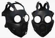 Gas mask protection pollution fantasy scifi military 3d model